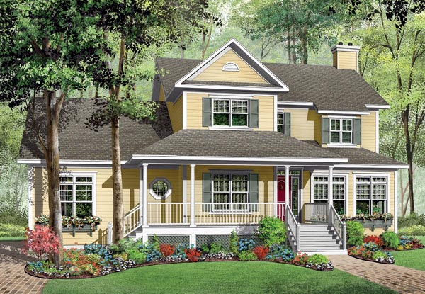 Farmhouse House Plan 65473 Elevation