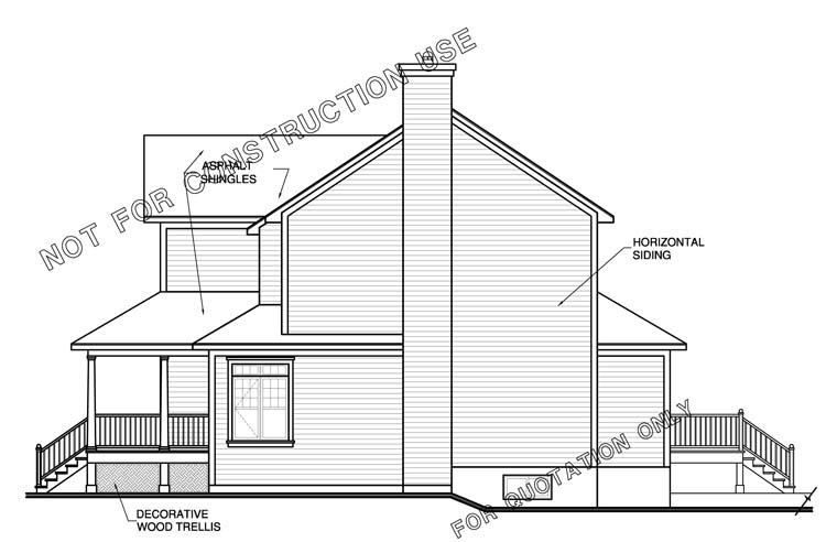 Farmhouse House Plan 65473 with 3 Beds, 3 Baths, 3 Car Garage Picture 2
