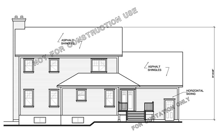 Farmhouse House Plan 65473 Rear Elevation