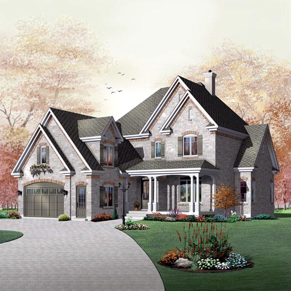 Traditional House Plan 65474 Elevation