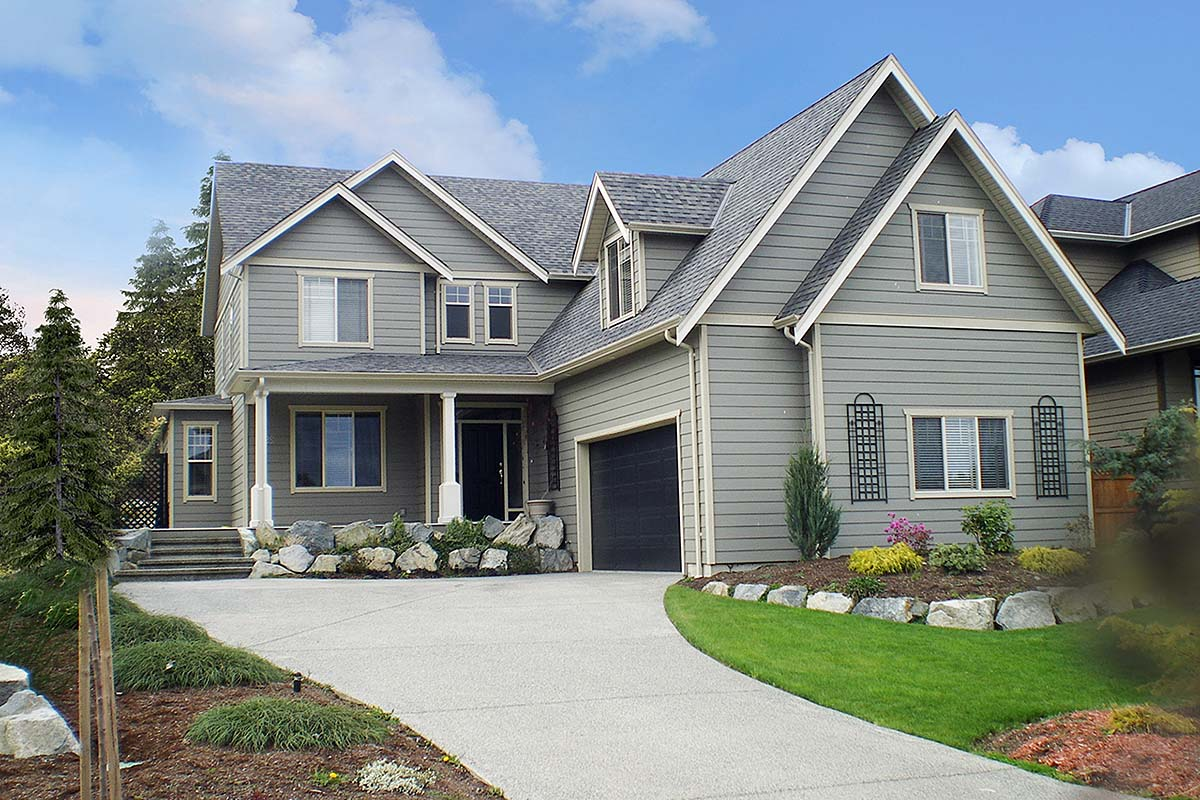 House Plan 65475 | Country Style Plan with 2376 Sq Ft, 4 Bedrooms, 3 Bathrooms, 3 Car Garage Elevation