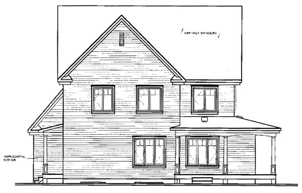 House Plan 65475 | Country Style Plan with 2376 Sq Ft, 4 Bedrooms, 3 Bathrooms, 3 Car Garage Rear Elevation