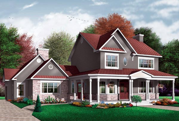 Country House Plan 65476 Elevation