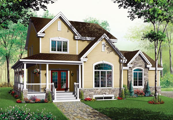 Farmhouse House Plan 65477 Elevation