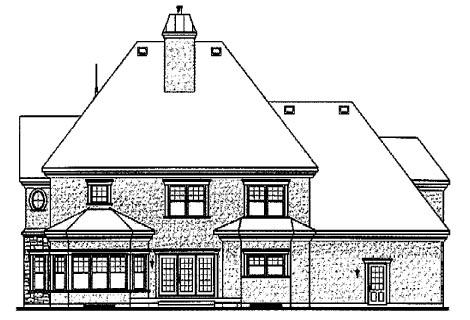 Victorian House Plan 65483 with 4 Beds, 4 Baths, 3 Car Garage Rear Elevation