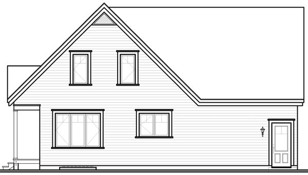 Country Traditional House Plan 65487 Rear Elevation