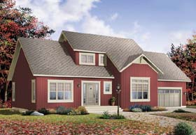 House Plan 65489 | Style Plan with 1898 Sq Ft, 3 Bedrooms, 2 Bathrooms, 2 Car Garage Elevation