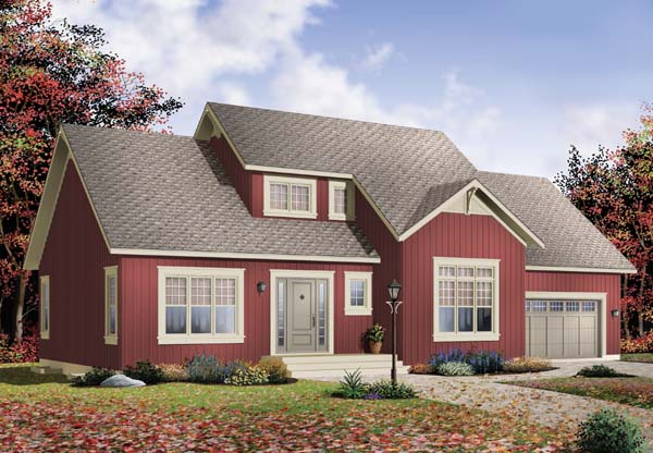 House Plan 65489 Elevation