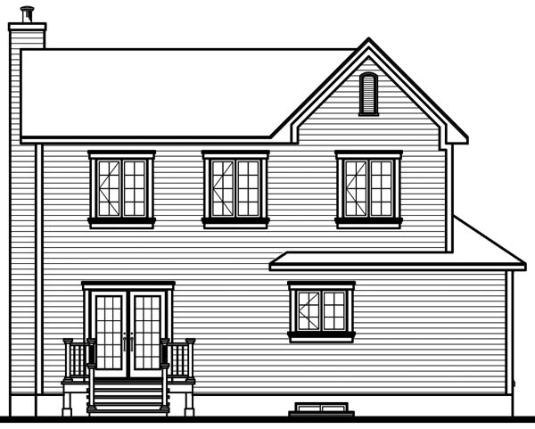Country House Plan 65490 Rear Elevation
