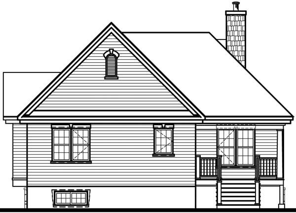 Country House Plan 65492 Rear Elevation