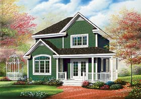 House Plan 65495 | Country Farmhouse Style Plan with 1530 Sq Ft, 3 Bedrooms, 2 Bathrooms Elevation
