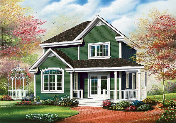 Country, Farmhouse House Plan 65495 with 3 Beds, 2 Baths Elevation