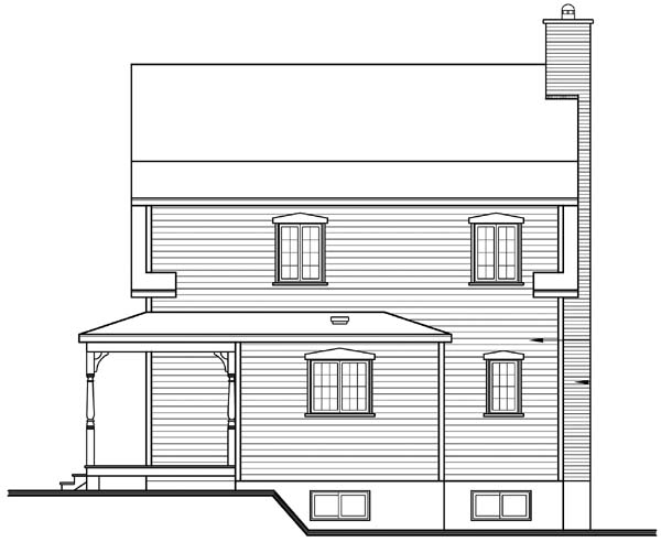 Country Traditional House Plan 65496 Rear Elevation