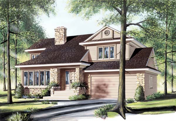 Craftsman Traditional House Plan 65497 Elevation