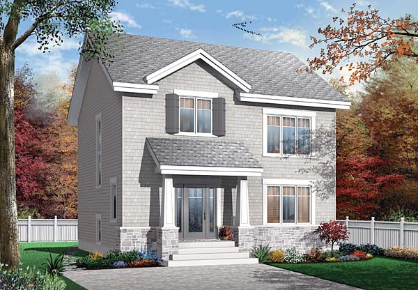 Country, Craftsman House Plan 65503 with 3 Beds , 2 Baths Elevation