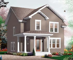 Traditional House Plan 65505 with 3 Beds, 2 Baths Elevation