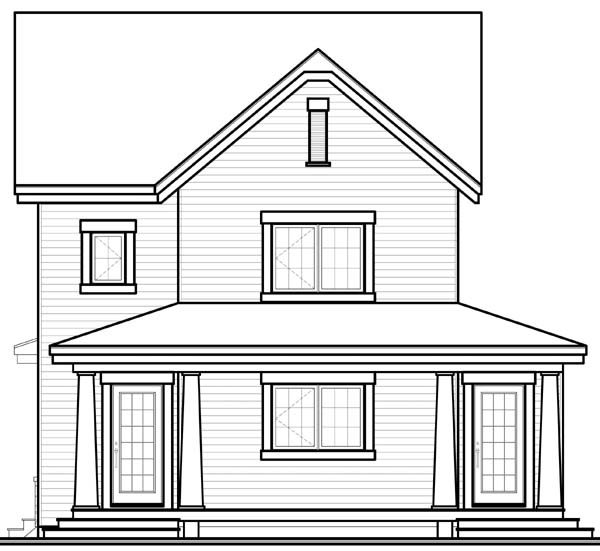 Country Craftsman House Plan 65506 Rear Elevation