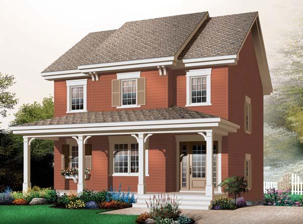House Plan 65508 Elevation
