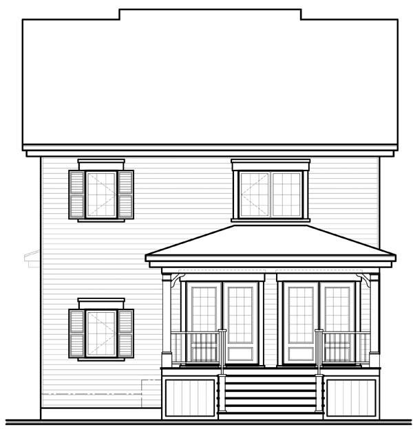 House Plan 65508 Rear Elevation
