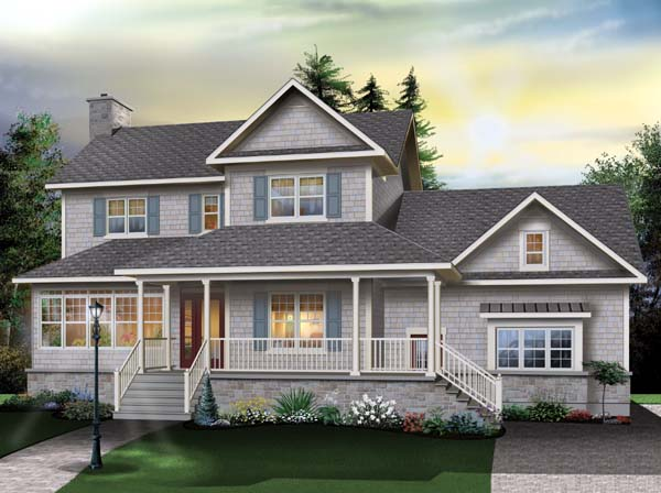 Country Farmhouse Traditional Elevation of Plan 65510
