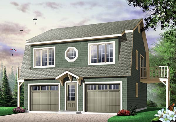 Ranch , Farmhouse , Country 2 Car Garage Apartment Plan 65516 with 2 Beds, 1 Baths Elevation