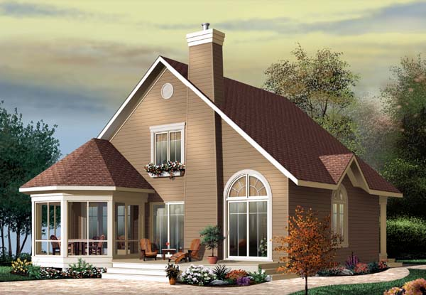 Country Craftsman Elevation of Plan 65518