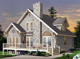 Country , Craftsman , European House Plan 65519 with 3 Beds, 2 Baths Elevation