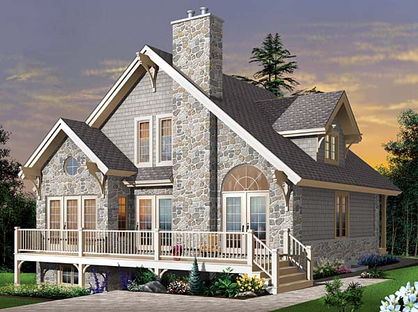 Country Craftsman European House Plan 65519 Elevation