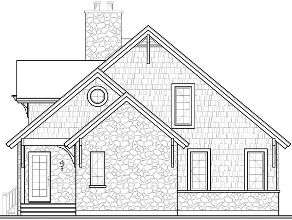 Country Craftsman European House Plan 65519 Rear Elevation