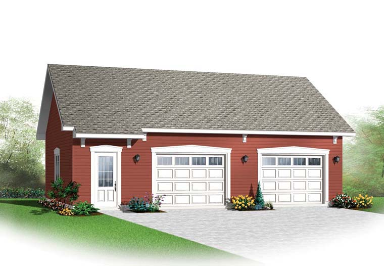 2 Car Garage Plan 65520 Elevation