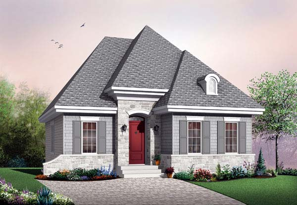 European Traditional House Plan 65522 Elevation
