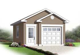 1 Car Garage Plan 65525 Elevation
