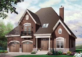 Country European House Plan 65528 Elevation