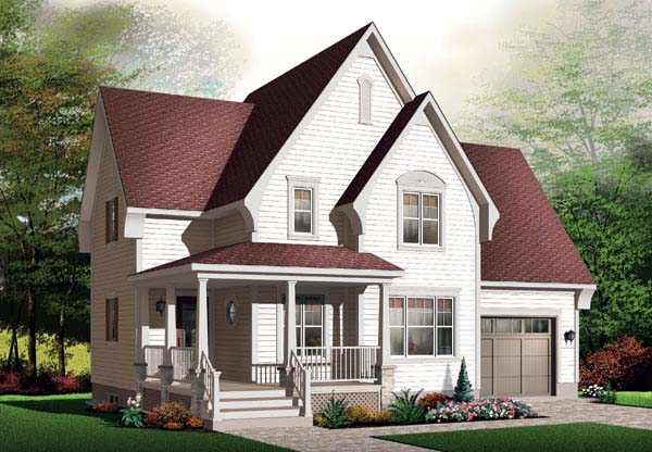 Country European Traditional Victorian House Plan 65529 Elevation