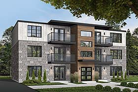 Contemporary Multi-Family Plan 65533 Elevation