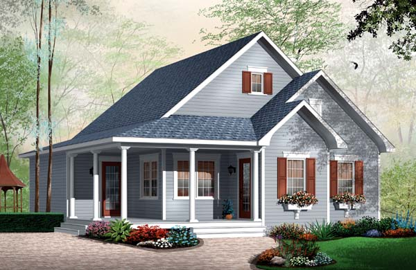Bungalow Country House Plan 65534 Elevation