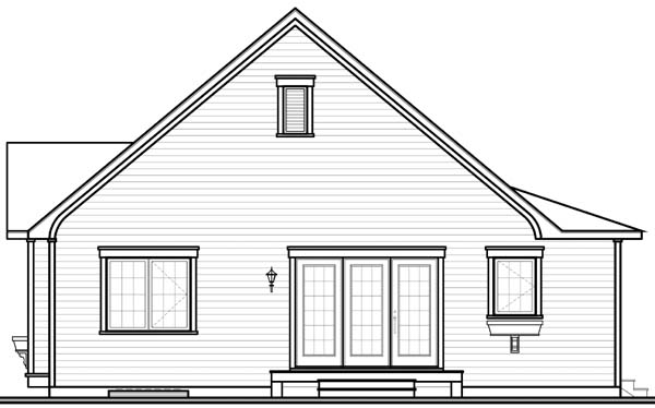 Bungalow Country House Plan 65534 Rear Elevation