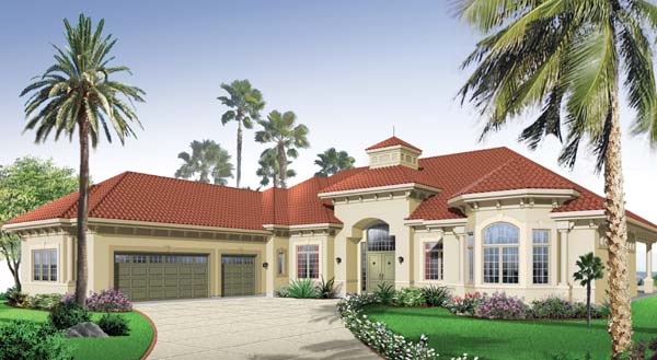 Florida Mediterranean House Plan 65538 Elevation