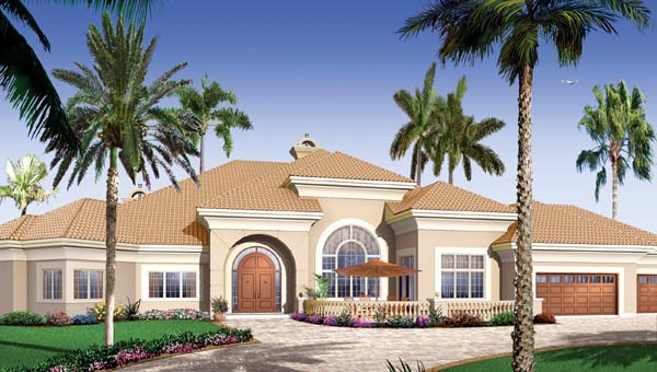 Florida Mediterranean House Plan 65539 Elevation