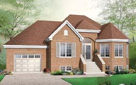 Bungalow European House Plan 65543 Elevation