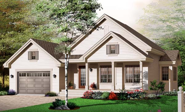 Bungalow Country House Plan 65544 Elevation