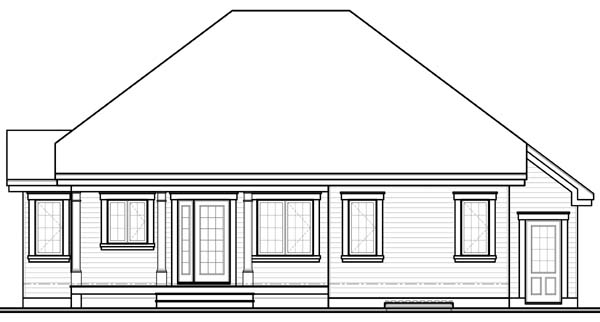 Bungalow Country House Plan 65544 Rear Elevation