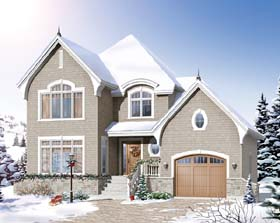 Country , European House Plan 65545 with 3 Beds, 2 Baths, 1 Car Garage Elevation
