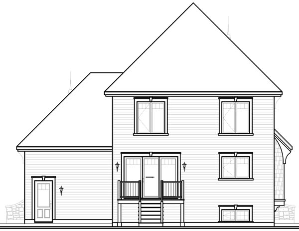 Country European House Plan 65545 Rear Elevation