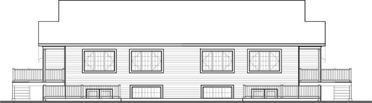 Country Multi-Family Plan 65546 Rear Elevation