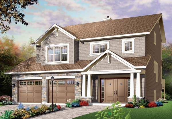 Craftsman House Plan 65549 Elevation