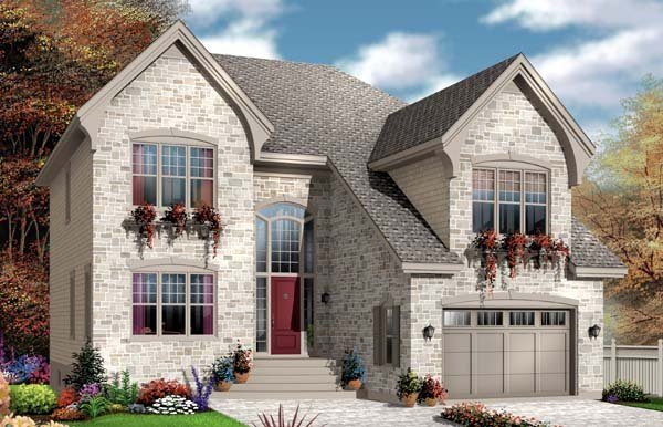European House Plan 65550 Elevation