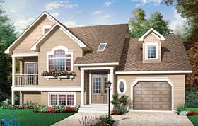 House Plan 65551 | Country Style Plan with 2085 Sq Ft, 3 Bedrooms, 2 Bathrooms, 1 Car Garage Elevation