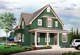 Country Craftsman House Plan 65555 Elevation