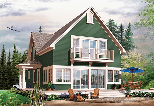 Country Craftsman House Plan 65555 Rear Elevation